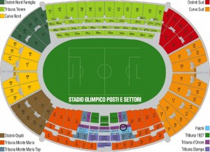 Tribuna d'Onore SX - Olympic Stadium Rome - AS Roma Tickets with VIP Hospitality